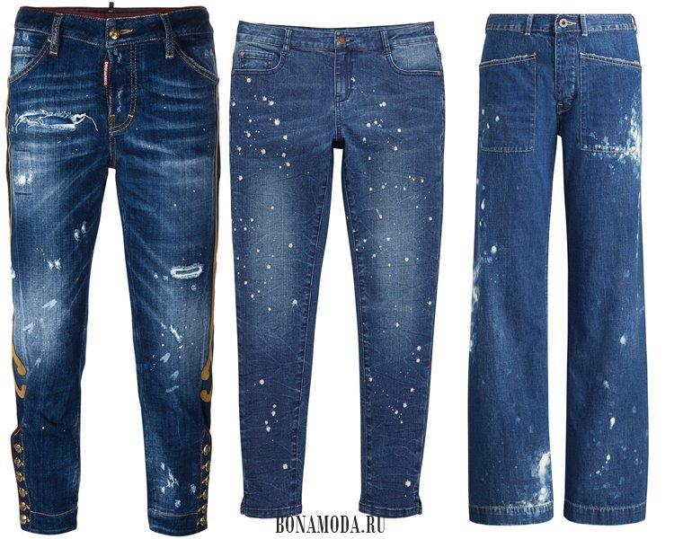Модные женские джинсы 2017: деним в краске