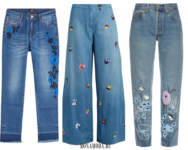 Модные женские джинсы 2017: деним с вышивкой