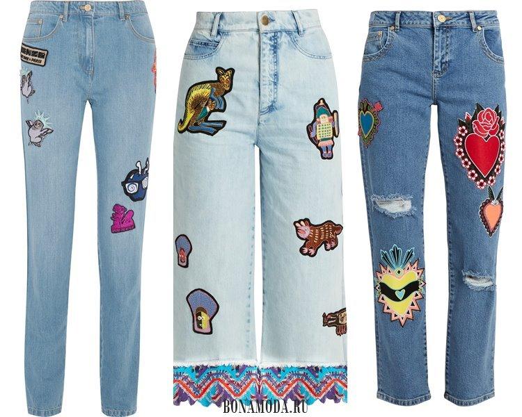 Модные женские джинсы 2017: с аппликациями