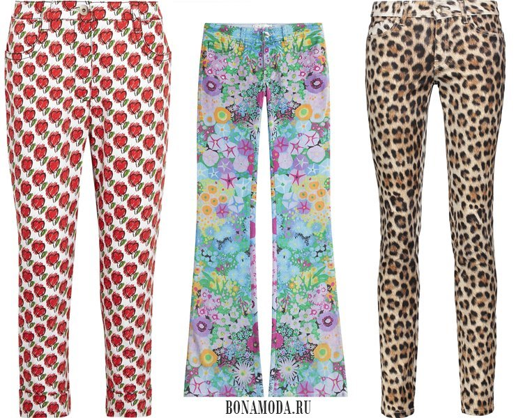 Модные женские джинсы 2017: с принтами