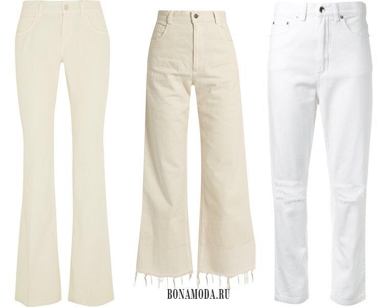 Модные женские джинсы 2017: белые
