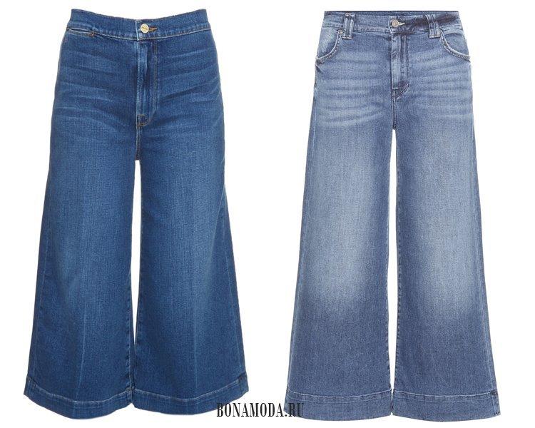 Модные женские джинсы 2017: кюлоты