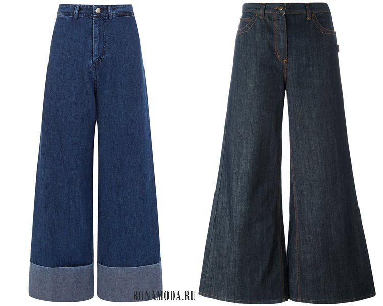 Модные женские джинсы 2017: широкие