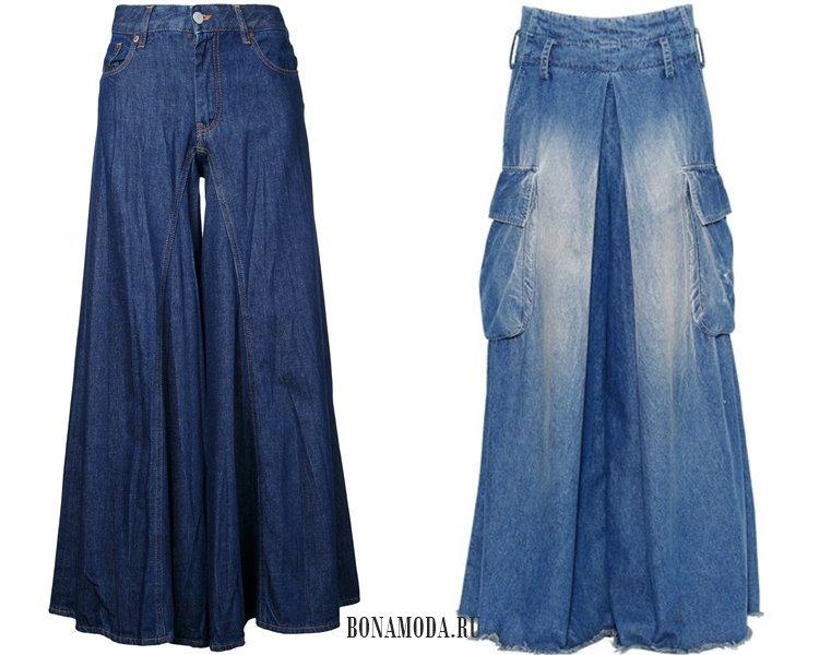 Модные женские джинсы 2017: мешковатые палаццо