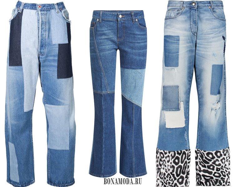 Модные женские джинсы 2017: заплатки