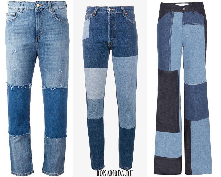Модные женские джинсы 2017: пэтчворк