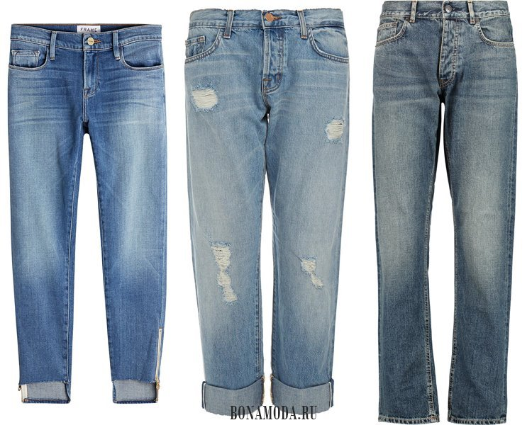 Модные женские джинсы 2017: бойфренды