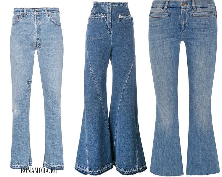Модные женские джинсы 2017: расклешенные