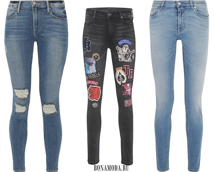Модные женские джинсы 2017: скинни
