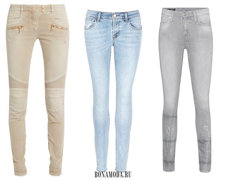 Модные женские джинсы 2017: узкие сигареты