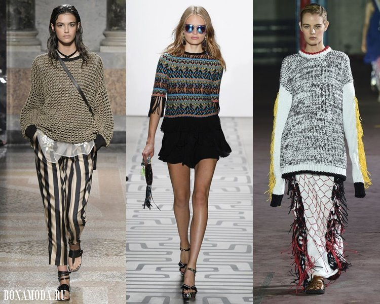Женские трикотажные свитера 2017-2018: тёплые меланжевые
