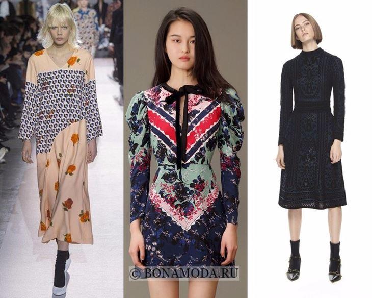 Модные платья осень-зима 2017-2018:  длинный рукав