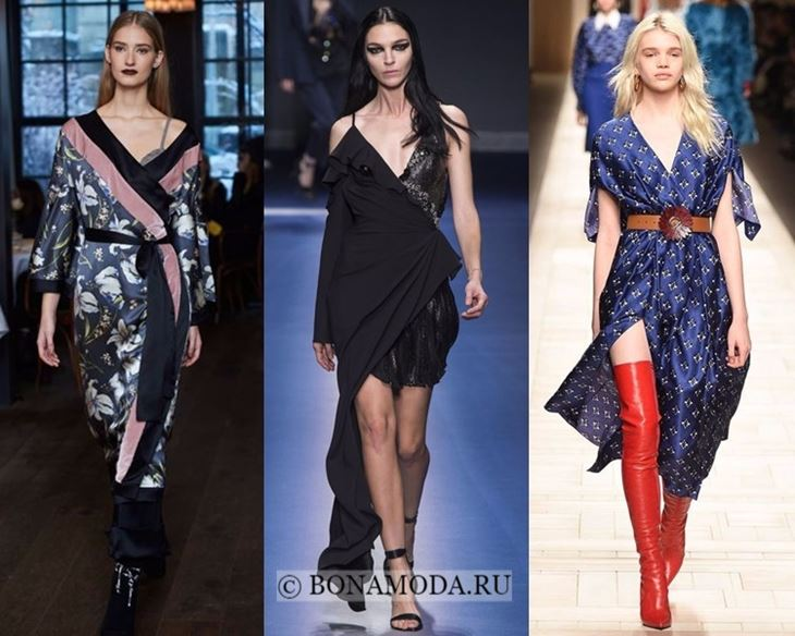 Модные платья осень-зима 2017-2018: с запахом