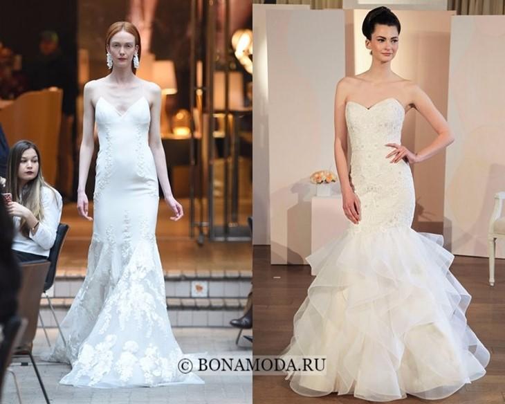 Свадебные платья русалка весна-лето 2018