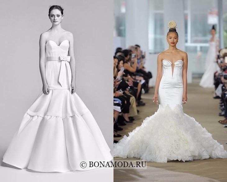 Свадебные платья годе весна-лето 2018