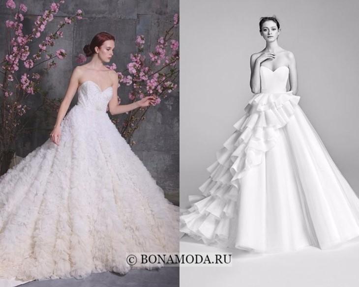 Свадебные платья с воланами весна-лето 2018