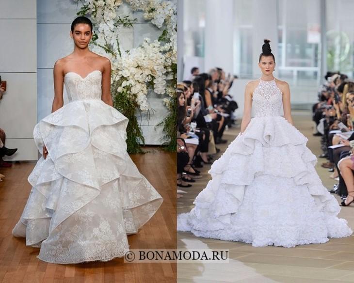Свадебные платья с оборками весна-лето 2018