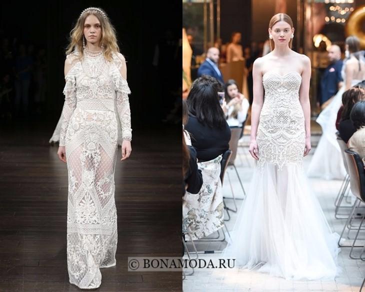 Свадебные платья старинное кружево весна-лето 2018
