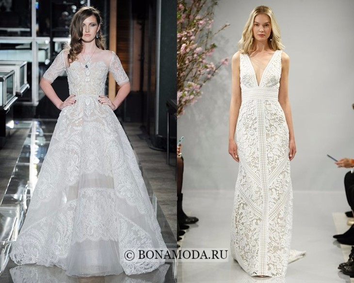 Свадебные платья винтажное кружево весна-лето 2018