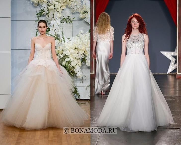 Тюлевые свадебные платья весна-лето 2018