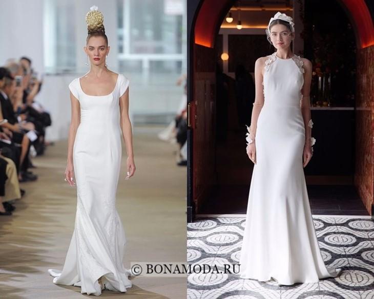 Свадебные платья шелковые весна-лето 2018
