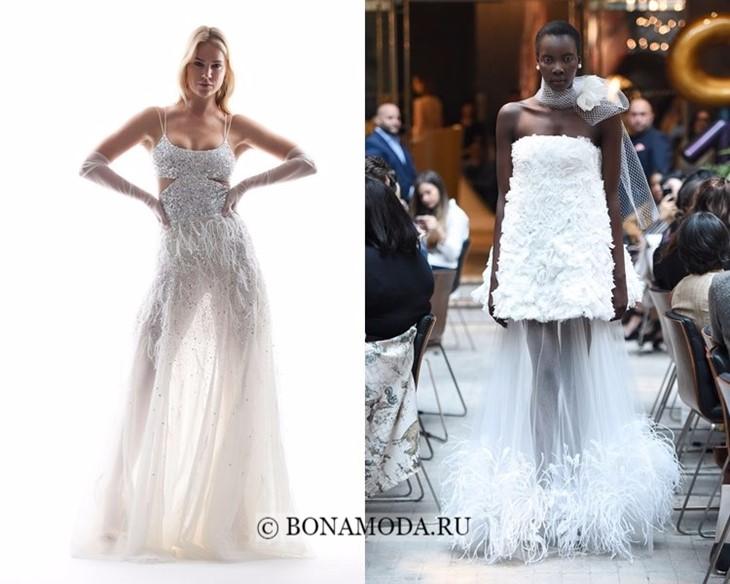 Свадебные платья прозрачная юбка весна-лето 2018