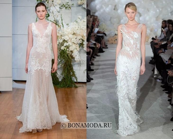 Свадебные платья прозрачные ткани весна-лето 2018