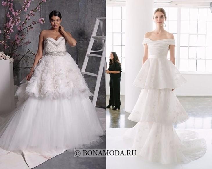 Свадебные платья многоярусные весна-лето 2018