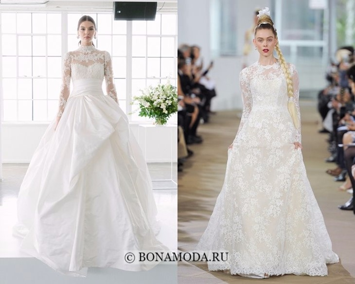 Свадебные платья с длинными рукавами весна-лето 2018