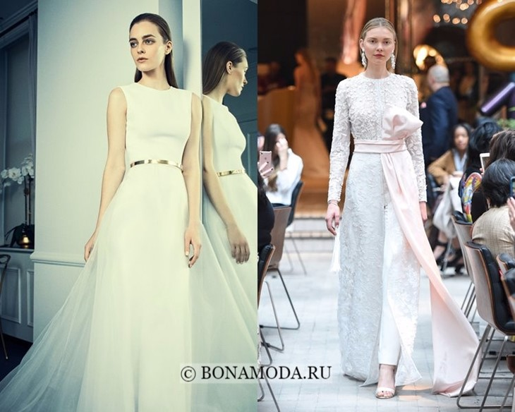 Свадебные платья с поясом весна-лето 2018