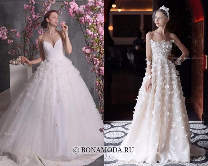 Свадебные платья с цветами весна-лето 2018