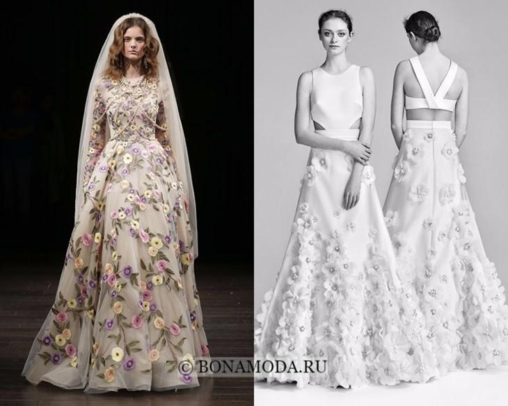 Свадебные платья цветочные весна-лето 2018