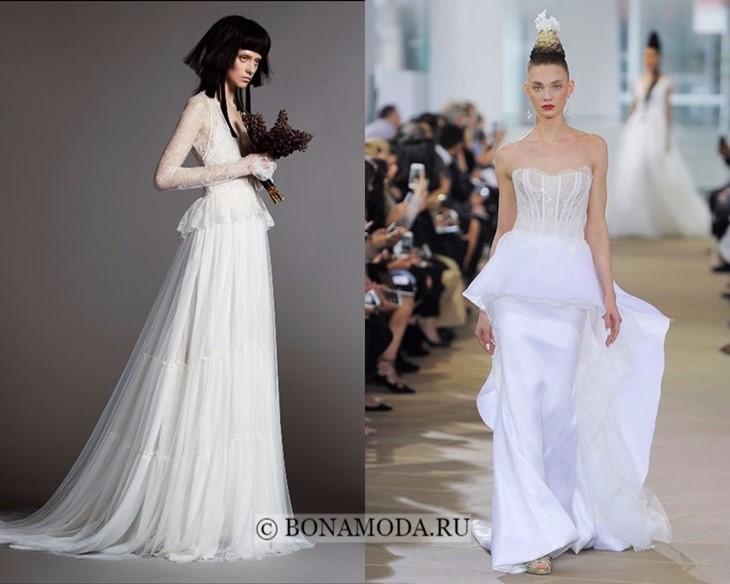 Свадебные платья с баской весна-лето 2018