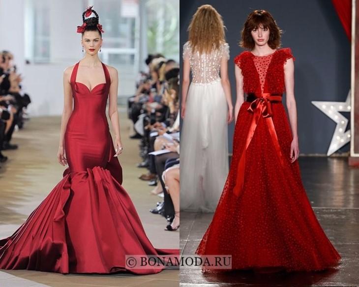 Красные свадебные платья весна-лето 2018