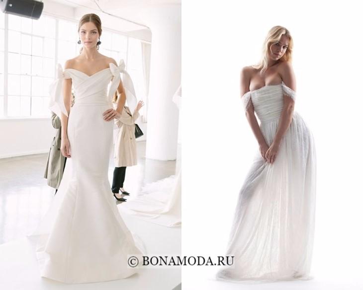 Свадебные платья с опущенными плечами весна-лето 2018
