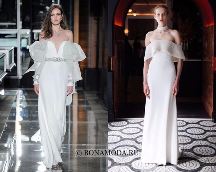 Летние открытые свадебные платья весна-лето 2018