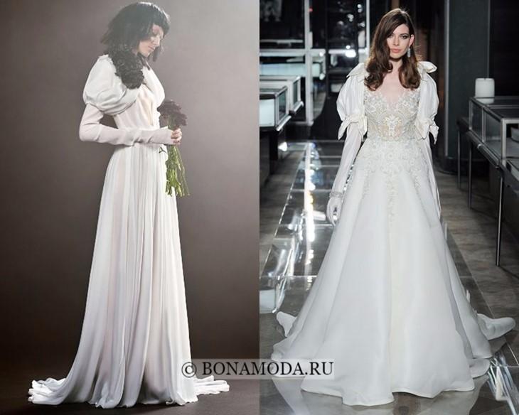 Свадебные платья с рукавами-фонариками весна-лето 2018