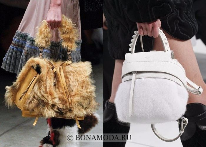Модные женские сумки осень-зима 2017-2018: меховые