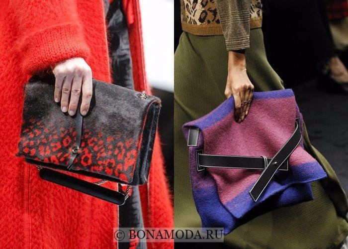 Модные женские сумки осень-зима 2017-2018: стиль трикотажного пледа