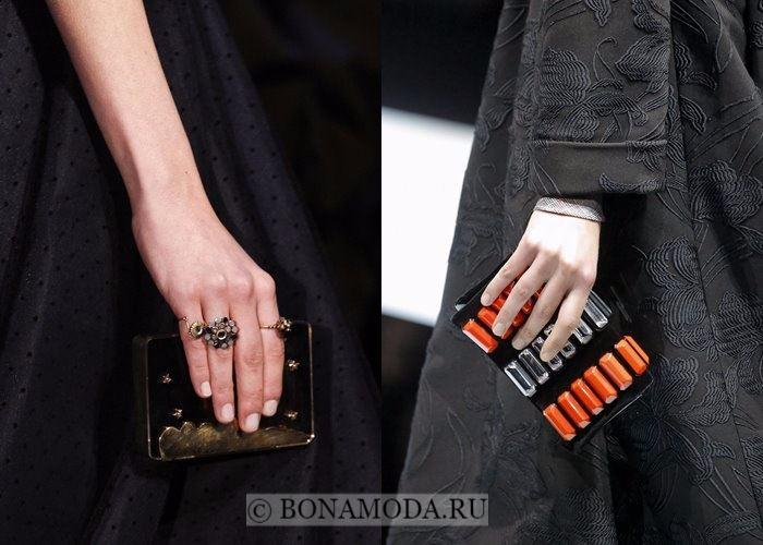 Модные женские сумки осень-зима 2017-2018: маленькие жёсткие клатчи