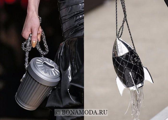Модные женские сумки осень-зима 2017-2018: необычные формы