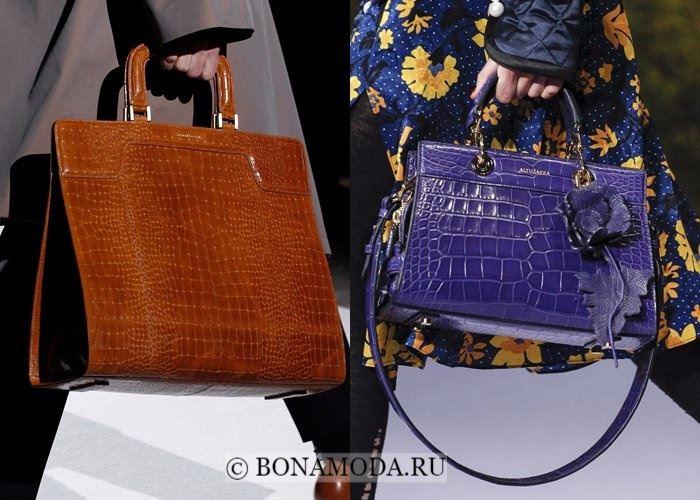 Модные женские сумки осень-зима 2017-2018: элегантные крокодиловые
