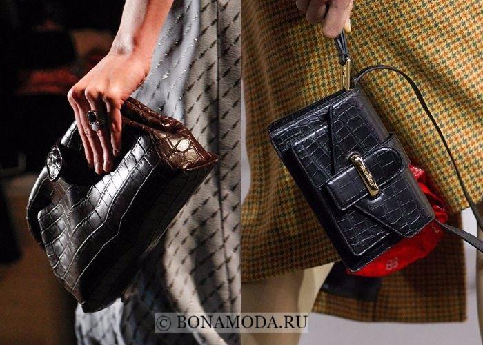 Модные женские сумки осень-зима 2017-2018: крокодиловая кожа
