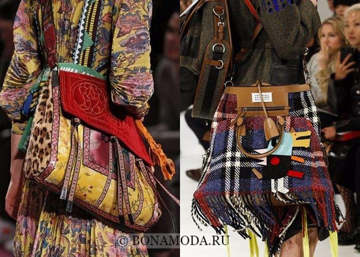 Модные женские сумки осень-зима 2017-2018: объёмный декор с бахромой