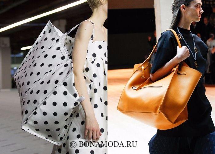 Модные женские сумки осень-зима 2017-2018: большие вместительные