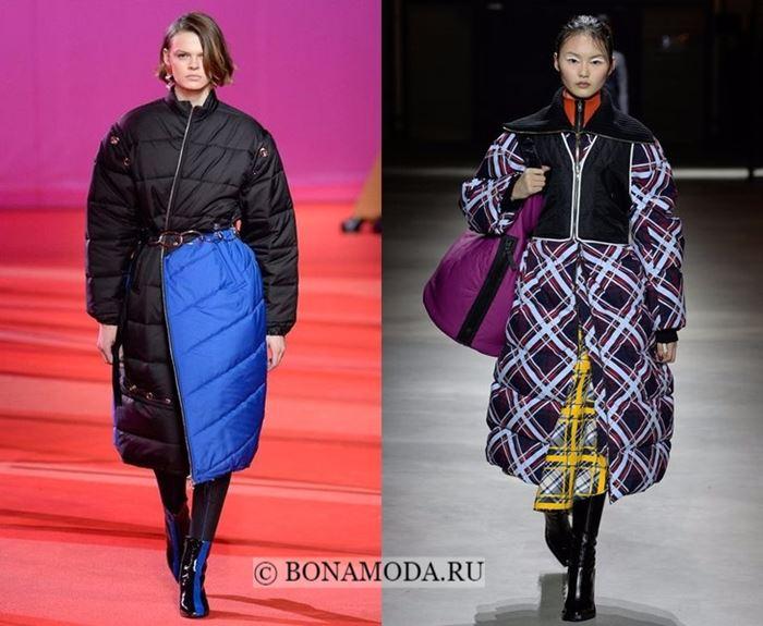 Тенденции осень-зима 2017-2018: пальто-пуховики  XXL