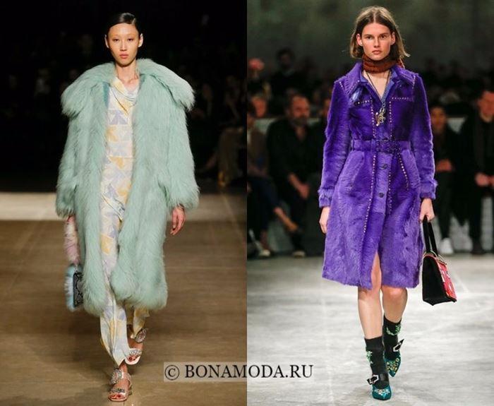 Тенденции осень-зима 2017-2018: цветной мех