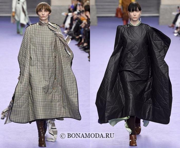 Тенденции моды осень-зима 2017-2018: накидки кейпы одеяла