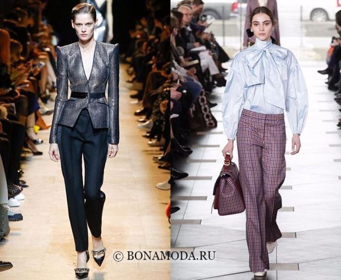 Тенденции моды осень-зима 2017-2018: брючный офисный стиль