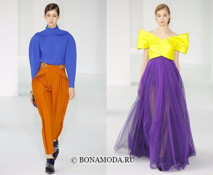 Тенденции моды осень-зима 2017-2018: яркий колор блок